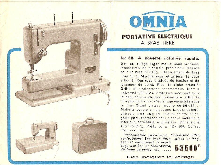 Omnia machine a coudre trouvez le meilleur prix sur voir for Machine a coudre omnia